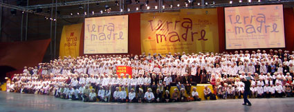 Mario tra i 1000 cuochi a Terra Madre 2006